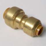 Brass Push Fit Reducer 15mm to 10mm Adapter - 27011510